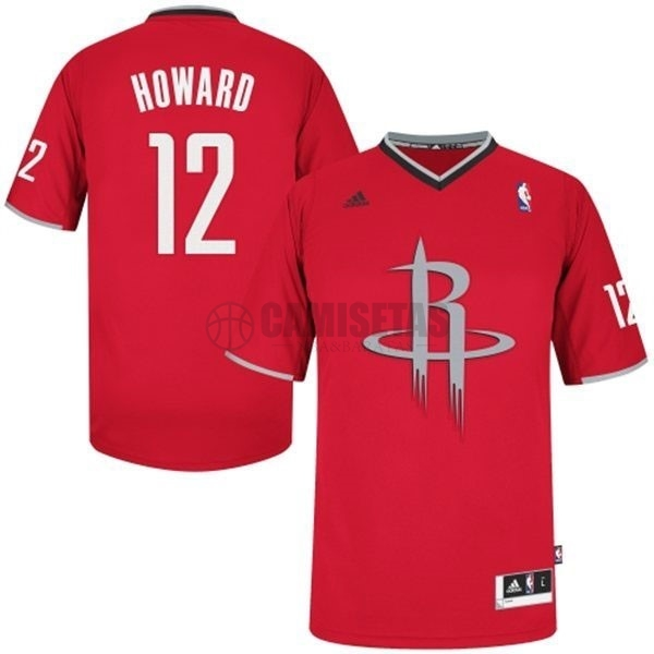Camisetas NBA Houston Rockets 2013 Navidad NO.12 Howard Rojo Barats
