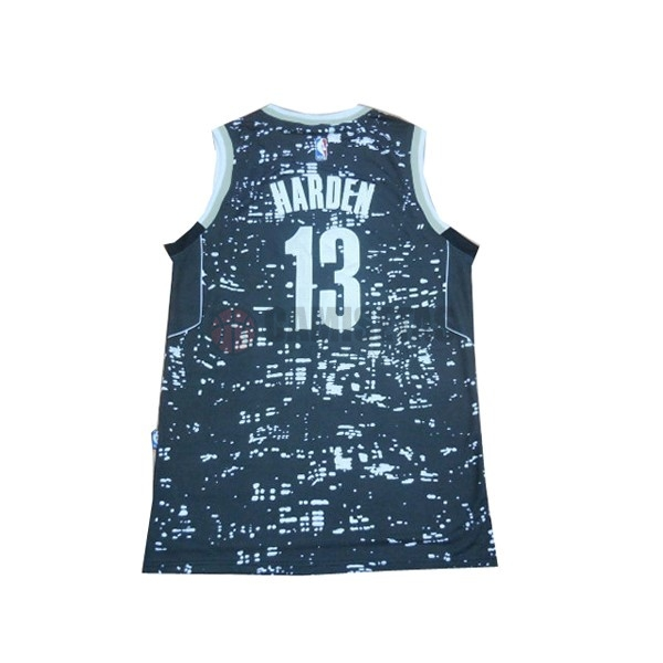 Camisetas NBA Houston Rockets Luces Ciudad NO.13 James Harden Azul Barats