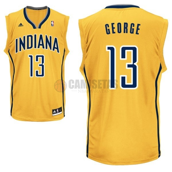 Camisetas NBA Indiana Pacers NO.13 Paul George Amarillo Barats