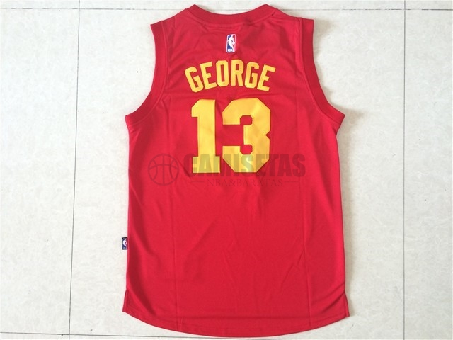 Camisetas NBA Indiana Pacers NO.13 Paul George Rojo Barats