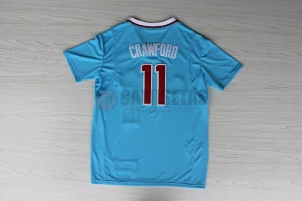 Camisetas NBA Los Angeles Clippers Manga Corta NO.11 Jamal Crawford Azul Barats