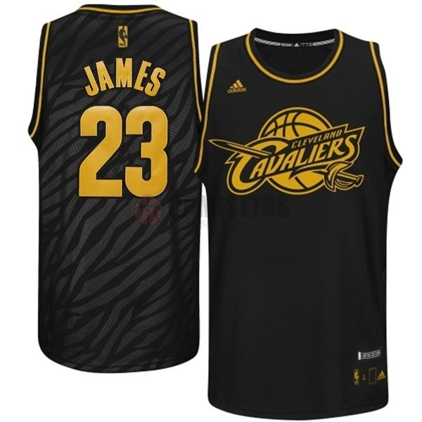 Camisetas NBA Los Angeles Clippers Metales Preciosos Moda NO.23 James Negro Barats