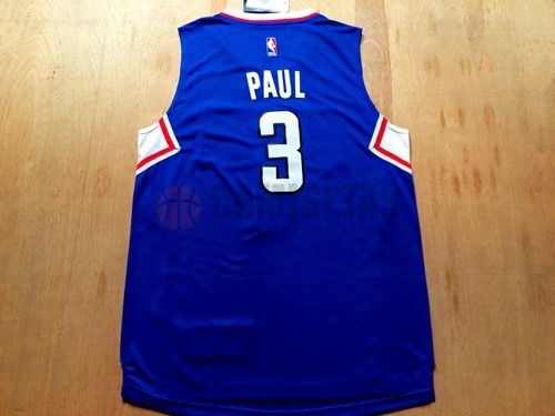 Camisetas NBA Los Angeles Clippers NO.3 Chris Paul Azul Barats