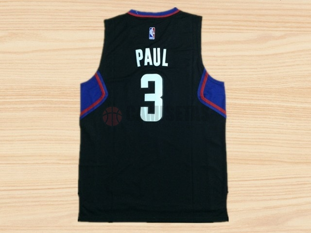 Camisetas NBA Los Angeles Clippers NO.3 Chris Paul Negro Barats