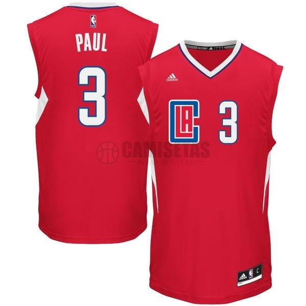 Camisetas NBA Los Angeles Clippers NO.3 Chris Paul Rojo Barats