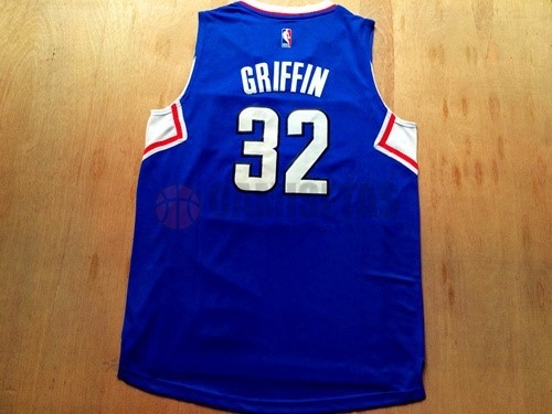 Camisetas NBA Los Angeles Clippers NO.32 Blake Griffin Azul Barats