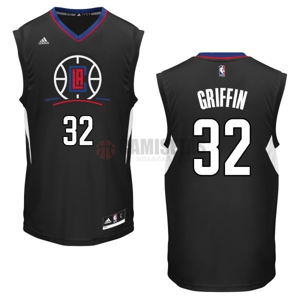 Camisetas NBA Los Angeles Clippers NO.32 Blake Griffin Negro Barats