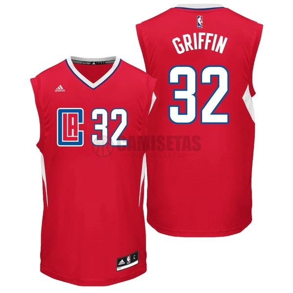 Camisetas NBA Los Angeles Clippers NO.32 Blake Griffin Rojo Barats