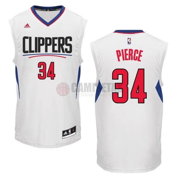 Camisetas NBA Los Angeles Clippers NO.34 Paul Pierce Blanco Barats