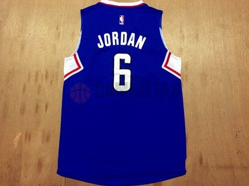 Camisetas NBA Los Angeles Clippers NO.6 DeAndre Jordan Azul Barats