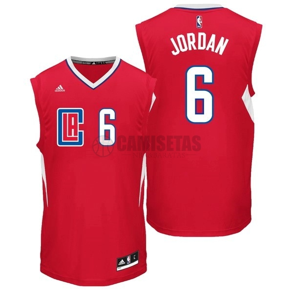 Camisetas NBA Los Angeles Clippers NO.6 DeAndre Jordan Rojo Barats
