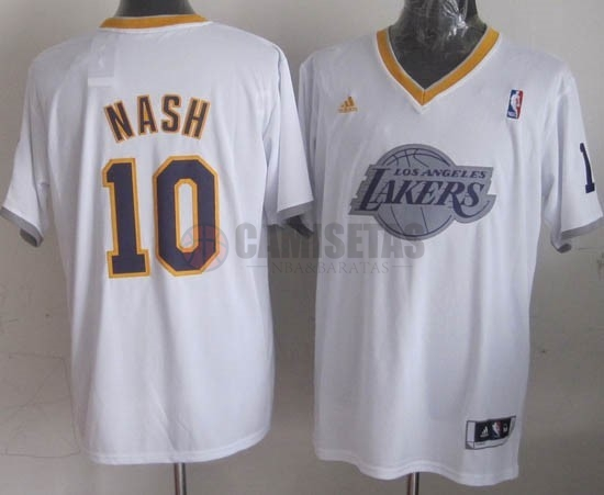 Camisetas NBA Los Angeles Lakers 2013 Navidad NO.10 Nash Blanco Barats