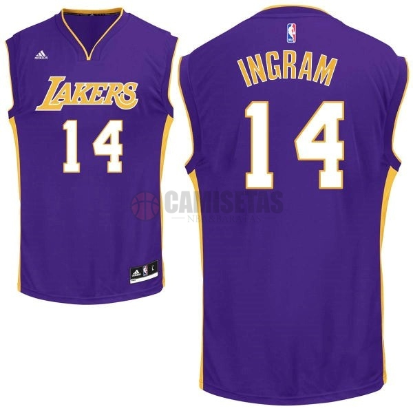 Camisetas NBA Los Angeles Lakers NO.14 Ingram Púrpura Barats