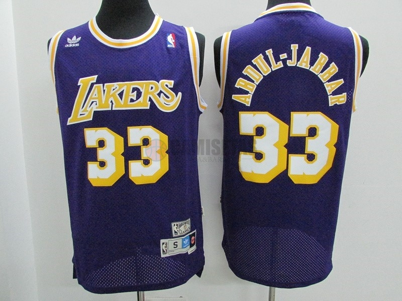 Camisetas NBA Los Angeles Lakers NO.33 Kareem Abdul Jabbar Púrpura Barats