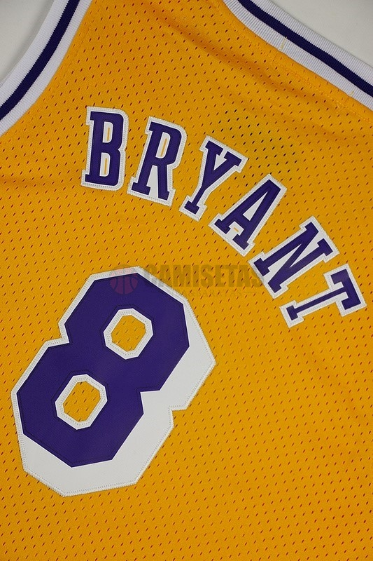Camisetas NBA Los Angeles Lakers NO.8 Kobe Bryant Amarillo Barats