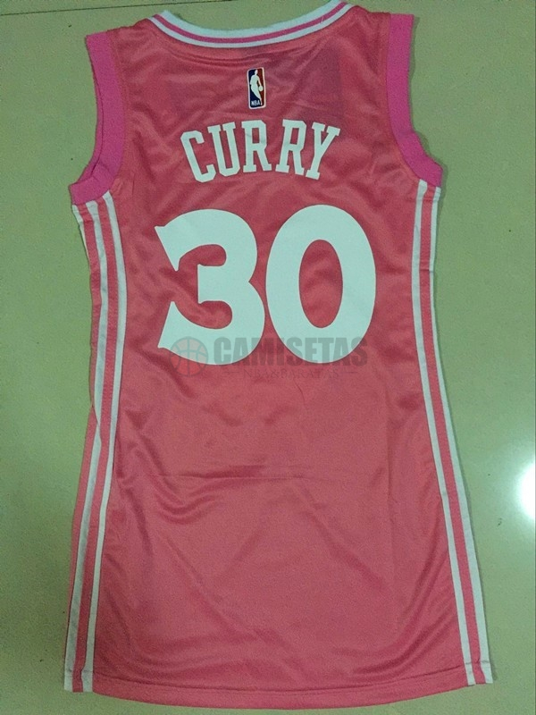 Camisetas NBA Mujer Golden State Warriors NO.30 Stephen Curry Rose Barats