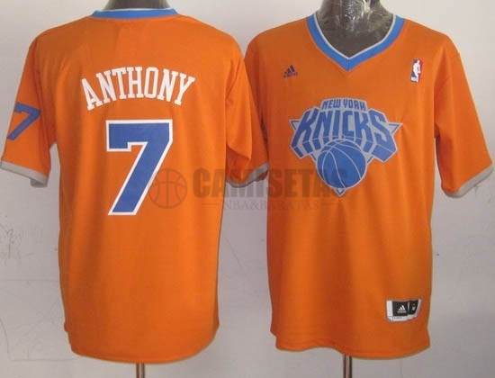 Camisetas NBA New York Knicks 2013 Navidad NO.7 Anthony Naranja Barats
