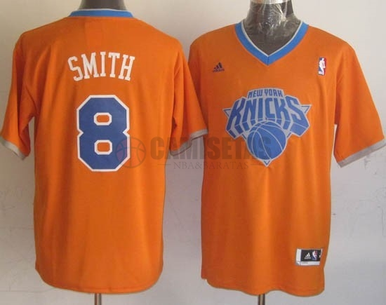 Camisetas NBA New York Knicks 2013 Navidad NO.8 Smith Naranja Barats