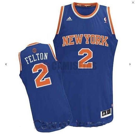 Camisetas NBA New York Knicks NO.2 Raymond Felton Azul Barats