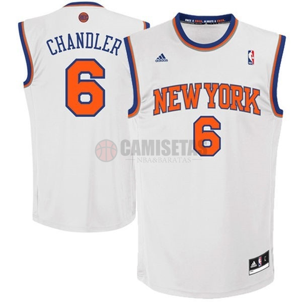 Camisetas NBA New York Knicks NO.6 Kristaps Porzingis Blanco Barats