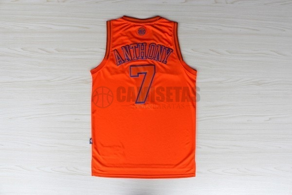 Camisetas NBA New York Knicks NO.7 Carmelo Anthony Naranja Barats