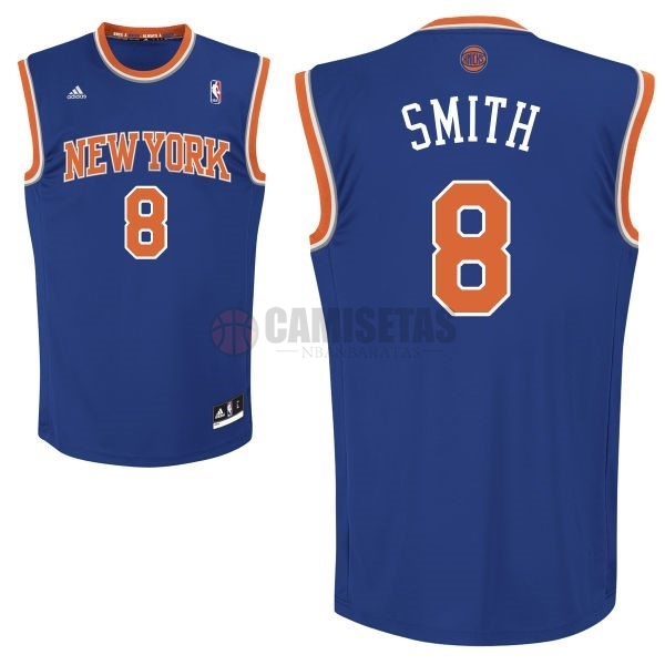 Camisetas NBA New York Knicks NO.8 JR.Smith Azul Barats