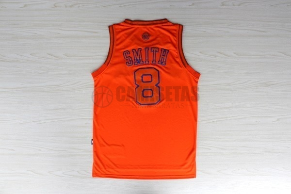 Camisetas NBA New York Knicks NO.8 JR.Smith Naranja Barats
