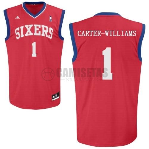 Camisetas NBA Philadelphia Sixers NO.1 Michael Carter Williams Rojo Barats