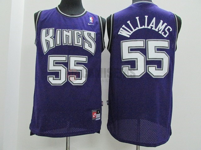 Camisetas NBA Sacramento Kings NO.55 Jason Williams Púrpura Barats
