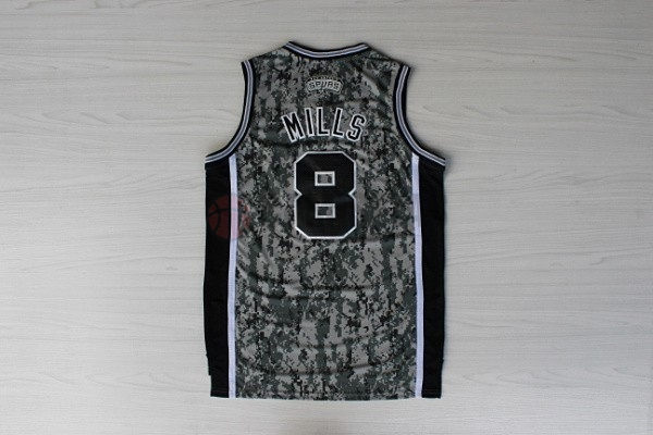 Camisetas NBA San Antonio Spurs NO.8 Patty Mills Verde Barats