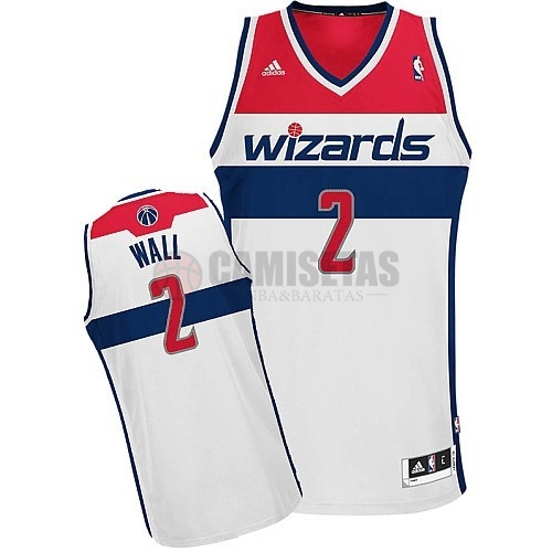 Camisetas NBA Washington Wizards NO.2 John Wall Blanco Barats