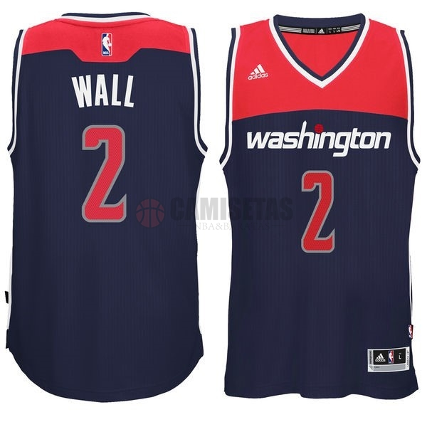 Camisetas NBA Washington Wizards NO.2 John Wall Negro Barats