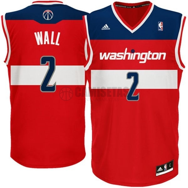 Camisetas NBA Washington Wizards NO.2 John Wall Rojo Barats