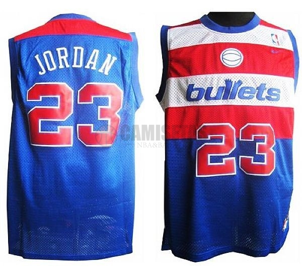 Camisetas NBA Washington Wizards NO.23 Michael Jordan Retro Azul Barats