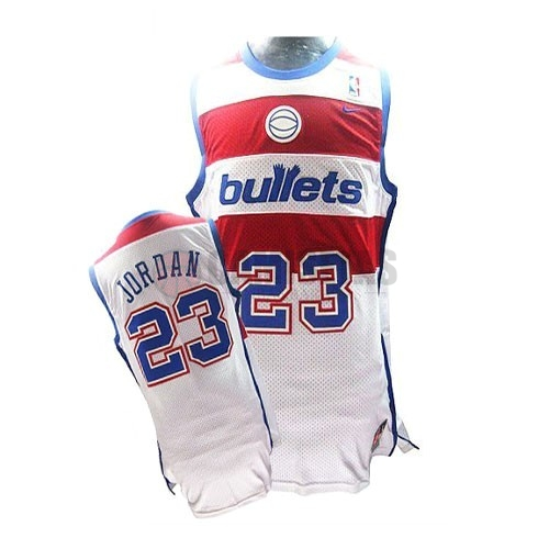 Camisetas NBA Washington Wizards NO.23 Michael Jordan Retro Blanco Barats