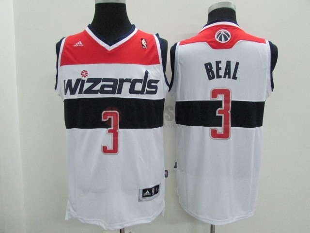 Camisetas NBA Washington Wizards NO.3 Bradley Beall Blanco Barats