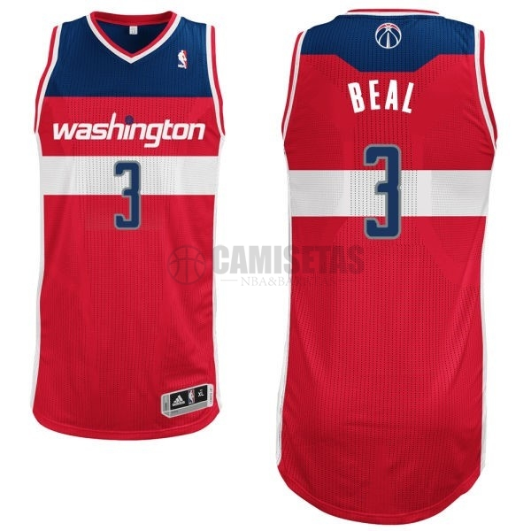 Camisetas NBA Washington Wizards NO.3 Bradley Beall Rojo Barats