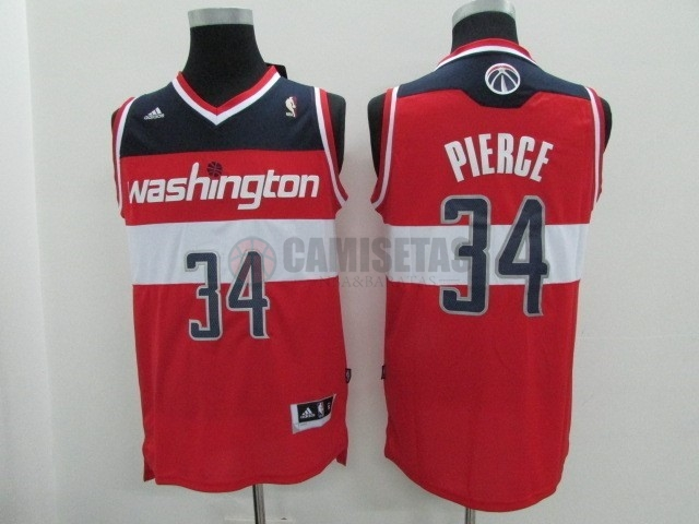Camisetas NBA Washington Wizards NO.34 Paul Pierce Rojo Barats