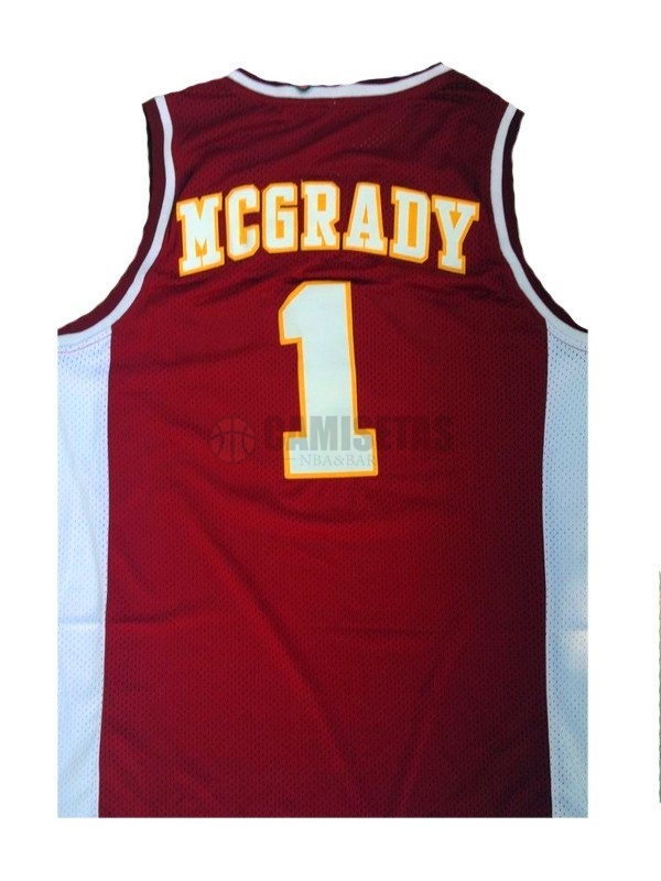 Camisetas NCAA Mountzion NO.1 Tracy McGrady Rojo Barats