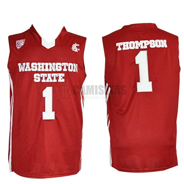 Camisetas NCAA Washington State NO.1 Thompson Rojo Barats