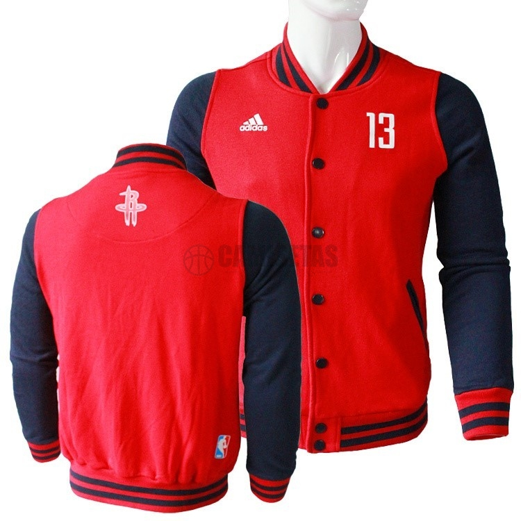 Chaqueta De Lana NBA Houston Rockets NO.13 James Harden Rojo Barats