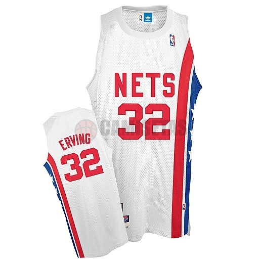 Maillo ABA Brooklyn Nets NO.32 Erving Blanco Barats