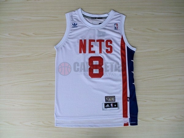 Maillo ABA Brooklyn Nets NO.8 Willams Blanco Barats