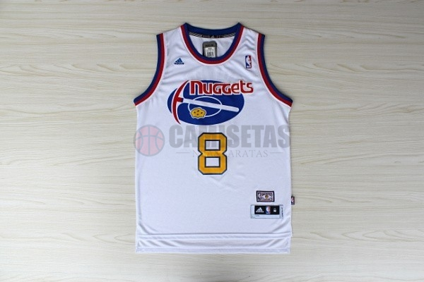 Maillo ABA Denver Nuggets NO.8 Gallinari Blanco Barats