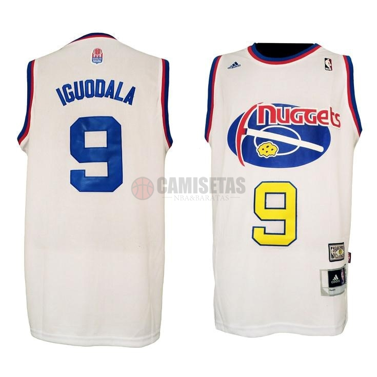 Maillo ABA Denver Nuggets NO.9 Igudala Blanco Barats