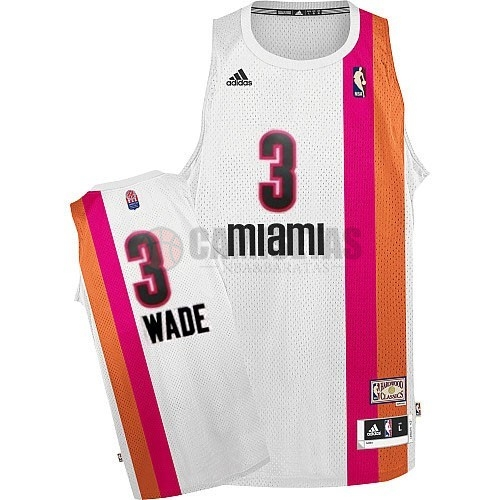 Maillo ABA Miami Heat NO.3 Wade Blanco Barats