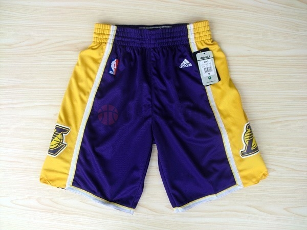 Pantalones Basket Los Angeles Lakers Púrpura 2018 Barats