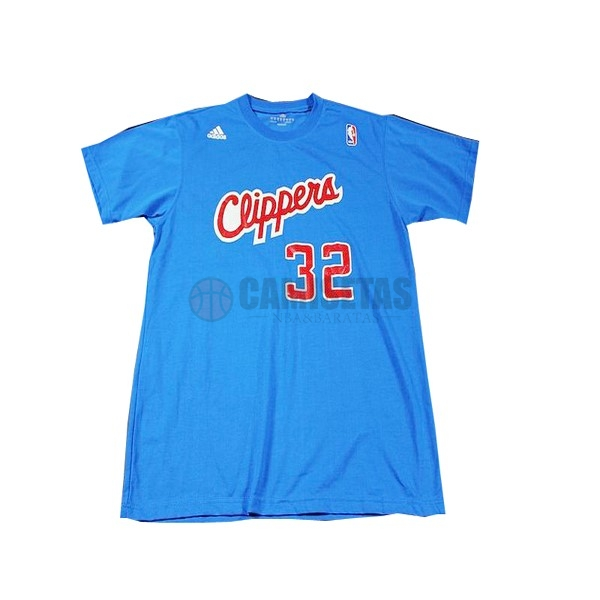 Camisetas NBA Los Angeles Clippers Manga Corta NO.32 Griffin Azul Barats