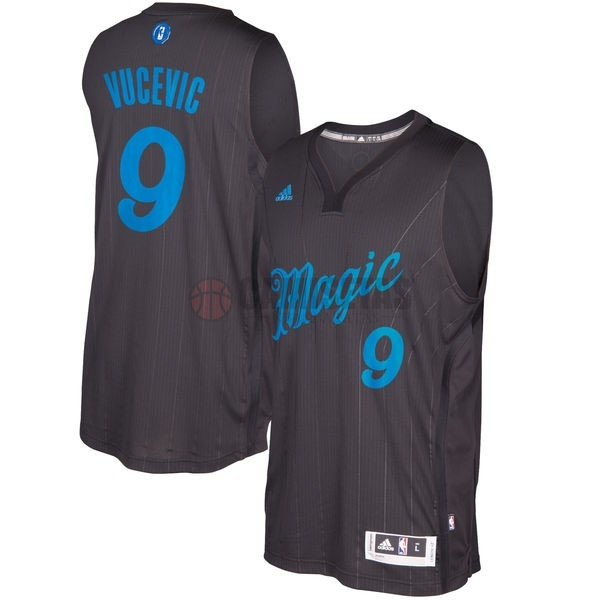 Camisetas NBA Orlando Magic 2016 Navidad NO.9 Nikola Vucevic Negro Barats