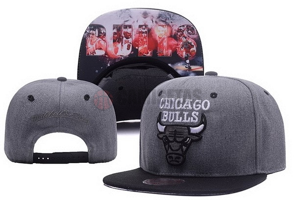 Gorros NBA 2017 Chicago Bulls Gris NO.03 Barats